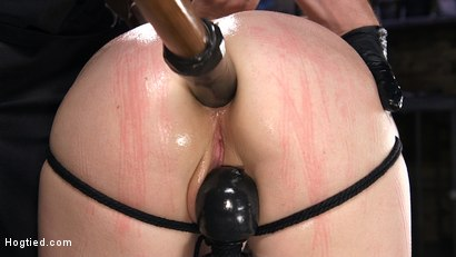 Photo number 9 from Red Headed Slut is Bound, Tormented, Double Penetrated and Made to Cum shot for Hogtied on Kink.com. Featuring Penny Pax in hardcore BDSM & Fetish porn.