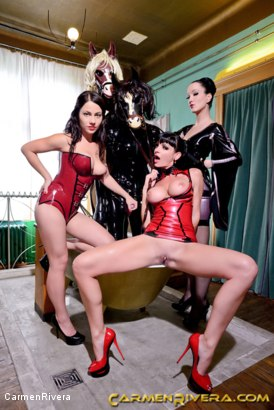Photo number 14 from Horny Horse Power: Chapter One shot for Carmen Rivera on Kink.com. Featuring Ella Kross, Fetish Liza, Carmen Rivera, Pony Browni and Blashure in hardcore BDSM & Fetish porn.