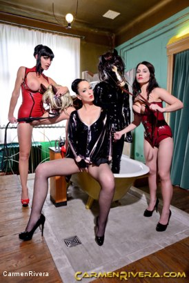 Photo number 15 from Horny Horse Power: Chapter One shot for Carmen Rivera on Kink.com. Featuring Ella Kross, Fetish Liza, Carmen Rivera, Pony Browni and Blashure in hardcore BDSM & Fetish porn.