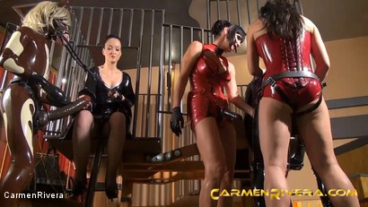 Photo number 4 from Horny Horse Power: Chapter One shot for Carmen Rivera on Kink.com. Featuring Ella Kross, Fetish Liza, Carmen Rivera, Pony Browni and Blashure in hardcore BDSM & Fetish porn.