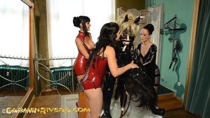 Photo number 8 from Horny Horse Power: Chapter One shot for Carmen Rivera on Kink.com. Featuring Ella Kross, Fetish Liza, Carmen Rivera, Pony Browni and Blashure in hardcore BDSM & Fetish porn.