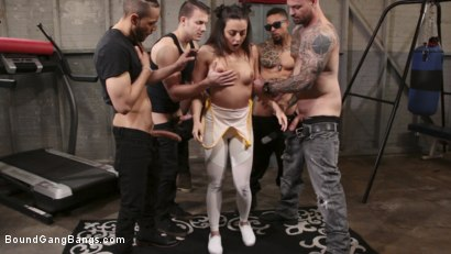 Photo number 1 from Whitney Wright Gets Help Stretching Her Holes shot for Bound Gang Bangs on Kink.com. Featuring Cyrus King , Whitney Wright , Eddie Jaye, Cody Steele , Rob Piper and Donny Sins in hardcore BDSM & Fetish porn.