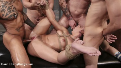 Photo number 13 from Whitney Wright Gets Help Stretching Her Holes shot for Bound Gang Bangs on Kink.com. Featuring Cyrus King , Whitney Wright , Eddie Jaye, Codey Steele , Rob Piper and Donny Sins in hardcore BDSM & Fetish porn.