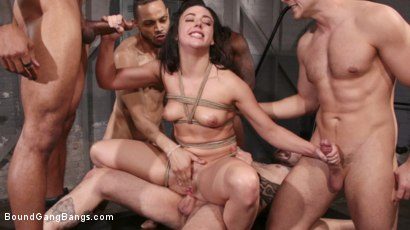 Photo number 27 from Whitney Wright Gets Help Stretching Her Holes shot for Bound Gang Bangs on Kink.com. Featuring Cyrus King , Whitney Wright , Eddie Jaye, Codey Steele , Rob Piper and Donny Sins in hardcore BDSM & Fetish porn.