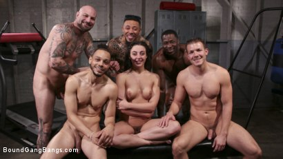 Photo number 33 from Whitney Wright Gets Help Stretching Her Holes shot for Bound Gang Bangs on Kink.com. Featuring Cyrus King , Whitney Wright , Eddie Jaye, Codey Steele , Rob Piper and Donny Sins in hardcore BDSM & Fetish porn.