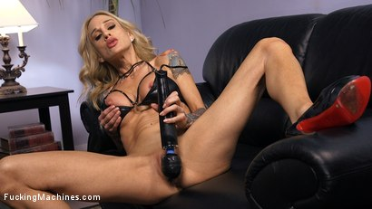Photo number 1 from Blonde MILF has Machine Sex for the First Time shot for Fucking Machines on Kink.com. Featuring Sarah Jessie in hardcore BDSM & Fetish porn.