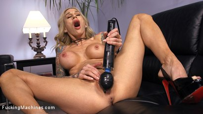 Photo number 2 from Blonde MILF has Machine Sex for the First Time shot for Fucking Machines on Kink.com. Featuring Sarah Jessie in hardcore BDSM & Fetish porn.