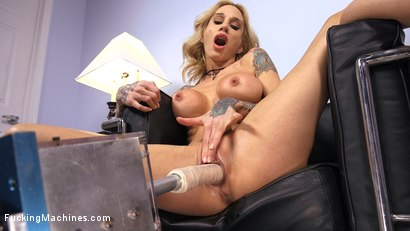 Photo number 5 from Blonde MILF has Machine Sex for the First Time shot for Fucking Machines on Kink.com. Featuring Sarah Jessie in hardcore BDSM & Fetish porn.