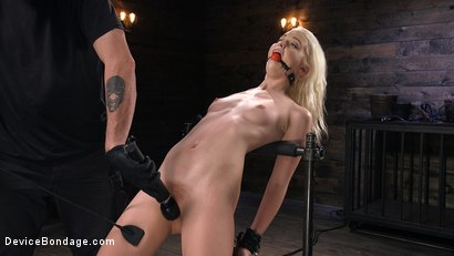 Photo number 4 from Newbie is Trapped in Evil Devices and Tormented shot for Device Bondage on Kink.com. Featuring Chloe Cherry in hardcore BDSM & Fetish porn.