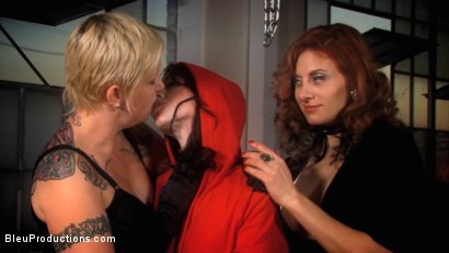 Photo number 29 from Little Hot Riding Hood: Chapter Two shot for Bleu Films on Kink.com. Featuring Varla Vex, Mina Meow and Carly in hardcore BDSM & Fetish porn.