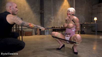 Photo number 1 from Pain Slut MILF London River Brutalized with Rough Sex and Rope Bondage shot for Brutal Sessions on Kink.com. Featuring Derrick Pierce and London River in hardcore BDSM & Fetish porn.