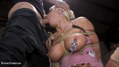 Photo number 11 from Pain Slut MILF London River Brutalized with Rough Sex and Rope Bondage shot for Brutal Sessions on Kink.com. Featuring Derrick Pierce and London River in hardcore BDSM & Fetish porn.