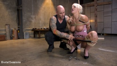 Photo number 14 from Pain Slut MILF London River Brutalized with Rough Sex and Rope Bondage shot for Brutal Sessions on Kink.com. Featuring Derrick Pierce and London River in hardcore BDSM & Fetish porn.