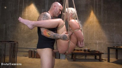 Photo number 17 from Pain Slut MILF London River Brutalized with Rough Sex and Rope Bondage shot for Brutal Sessions on Kink.com. Featuring Derrick Pierce and London River in hardcore BDSM & Fetish porn.