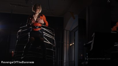 Photo number 2 from Ep 1 - Caught and Interrogated: In the Dungeon of The Baroness shot for Revenge Of The Baroness on Kink.com. Featuring Mr. Chambers and Baroness Davina Dust in hardcore BDSM & Fetish porn.