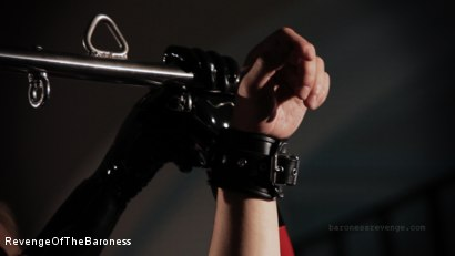 Photo number 19 from Ep 1 - Caught and Interrogated: In the Dungeon of The Baroness shot for Revenge Of The Baroness on Kink.com. Featuring Mr. Chambers and Baroness Davina Dust in hardcore BDSM & Fetish porn.