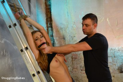 Photo number 6 from Anouk Returns! shot for Struggling Babes on Kink.com. Featuring Anouk and Ar in hardcore BDSM & Fetish porn.