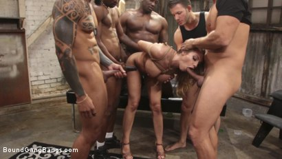 Photo number 5 from Tupperware Party, Britney Amber Gets Stuffed Air Tight   shot for Bound Gang Bangs on Kink.com. Featuring Britney Amber, Cody Steele , Eddie Jaye, Ramon Nomar, Ray Black  and Rob Piper in hardcore BDSM & Fetish porn.