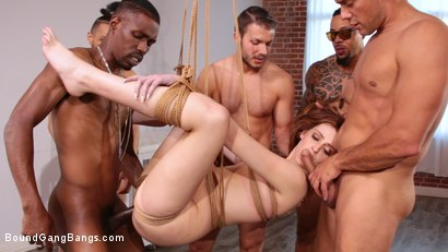 Photo number 16 from Sweet Maya Kendrick Gets Every Hole Slammed Deep And Hard In Bondage shot for Bound Gang Bangs on Kink.com. Featuring Maya Kendrick, Donny Sins, Eddie Jaye, Cody Steele , Ray Black  and Ramon Nomar in hardcore BDSM & Fetish porn.