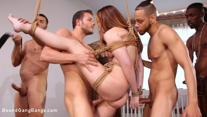 Photo number 7 from Sweet Maya Kendrick Gets Every Hole Slammed Deep And Hard In Bondage shot for Bound Gang Bangs on Kink.com. Featuring Maya Kendrick, Donny Sins, Eddie Jaye, Cody Steele , Ray Black  and Ramon Nomar in hardcore BDSM & Fetish porn.