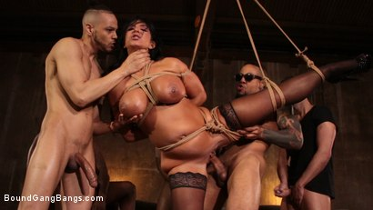 Photo number 11 from Raven Hart Gets Bound, Fucked and Wrecked in Ruthless Gangbang shot for Bound Gang Bangs on Kink.com. Featuring Donny Sins, Donnie Rock , Raven Hart, Jack Blaque, Eddie Jaye and Rob Piper in hardcore BDSM & Fetish porn.