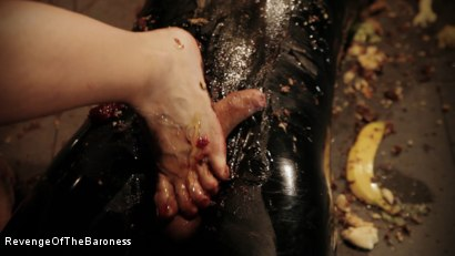 Photo number 17 from Ep 3 - Bizarre dinner date: Dominant sploshing shot for Revenge Of The Baroness on Kink.com. Featuring Baroness Davina Dust and Mr. Chambers in hardcore BDSM & Fetish porn.