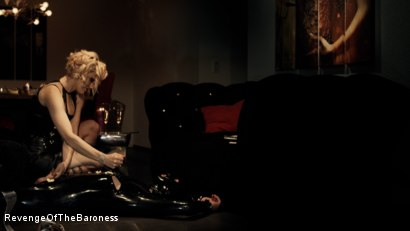 Photo number 22 from Ep 3 - Bizarre dinner date: Dominant sploshing shot for Revenge Of The Baroness on Kink.com. Featuring Baroness Davina Dust and Mr. Chambers in hardcore BDSM & Fetish porn.