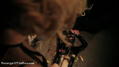 Photo number 9 from Ep 3 - Bizarre dinner date: Dominant sploshing shot for Revenge Of The Baroness on Kink.com. Featuring Baroness Davina Dust and Mr. Chambers in hardcore BDSM & Fetish porn.