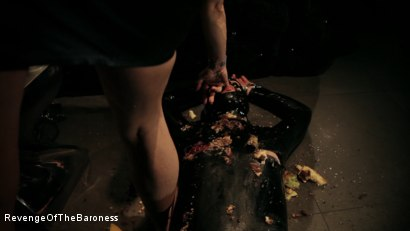 Photo number 10 from Ep 3 - Bizarre dinner date: Dominant sploshing shot for Revenge Of The Baroness on Kink.com. Featuring Baroness Davina Dust and Mr. Chambers in hardcore BDSM & Fetish porn.