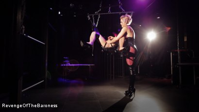 Photo number 20 from Ep 4 - Suspension, Electro-Play and Torment by the Baroness shot for Revenge Of The Baroness on Kink.com. Featuring Baroness Davina Dust and Mr. Chambers in hardcore BDSM & Fetish porn.
