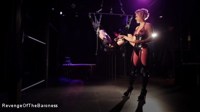 Photo number 21 from Ep 4 - Suspension, Electro-Play and Torment by the Baroness shot for Revenge Of The Baroness on Kink.com. Featuring Baroness Davina Dust and Mr. Chambers in hardcore BDSM & Fetish porn.