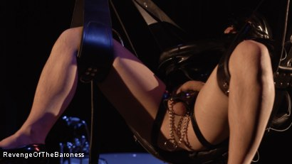 Photo number 22 from Ep 4 - Suspension, Electro-Play and Torment by the Baroness shot for Revenge Of The Baroness on Kink.com. Featuring Baroness Davina Dust and Mr. Chambers in hardcore BDSM & Fetish porn.