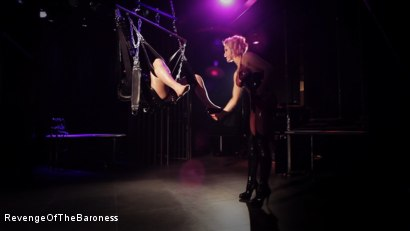 Photo number 23 from Ep 4 - Suspension, Electro-Play and Torment by the Baroness shot for Revenge Of The Baroness on Kink.com. Featuring Baroness Davina Dust and Mr. Chambers in hardcore BDSM & Fetish porn.