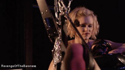 Photo number 24 from Ep 4 - Suspension, Electro-Play and Torment by the Baroness shot for Revenge Of The Baroness on Kink.com. Featuring Baroness Davina Dust and Mr. Chambers in hardcore BDSM & Fetish porn.