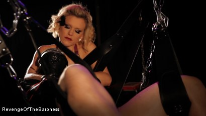 Photo number 10 from Ep 4 - Suspension, Electro-Play and Torment by the Baroness shot for Revenge Of The Baroness on Kink.com. Featuring Baroness Davina Dust and Mr. Chambers in hardcore BDSM & Fetish porn.