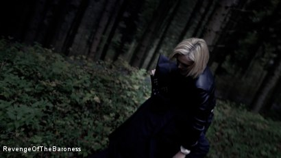 Photo number 21 from Ep 5 - Tied up in the Public Forest: Outdoor Torment by the Baroness shot for Revenge Of The Baroness on Kink.com. Featuring Baroness Davina Dust and Mr. Hansen in hardcore BDSM & Fetish porn.