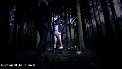 Photo number 26 from Ep 5 - Tied up in the Public Forest: Outdoor Torment by the Baroness shot for Revenge Of The Baroness on Kink.com. Featuring Baroness Davina Dust and Mr. Hansen in hardcore BDSM & Fetish porn.