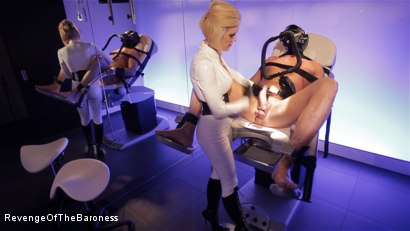 Photo number 1 from Ep 6 - Bizarre Examination: at Dr. Dust's Mercy shot for Revenge Of The Baroness on Kink.com. Featuring Baroness Davina Dust and Mr. Bates in hardcore BDSM & Fetish porn.
