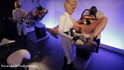 Photo number 11 from Ep 6 - Bizarre Examination: at Dr. Dust's Mercy shot for Revenge Of The Baroness on Kink.com. Featuring Baroness Davina Dust and Mr. Bates in hardcore BDSM & Fetish porn.