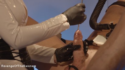 Photo number 3 from Ep 6 - Bizarre Examination: at Dr. Dust's Mercy shot for Revenge Of The Baroness on Kink.com. Featuring Baroness Davina Dust and Mr. Bates in hardcore BDSM & Fetish porn.
