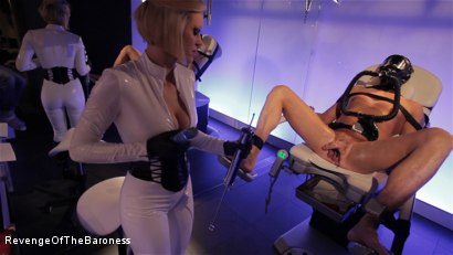 Photo number 8 from Ep 6 - Bizarre Examination: at Dr. Dust's Mercy shot for Revenge Of The Baroness on Kink.com. Featuring Baroness Davina Dust and Mr. Bates in hardcore BDSM & Fetish porn.