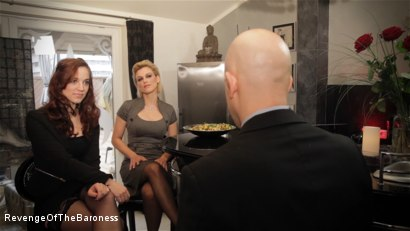 Photo number 2 from Ep 7 - The Business Slave: Seduced by Two Mistresses shot for Revenge Of The Baroness on Kink.com. Featuring Baroness Davina Dust, Princess Zuleika and Mr. Littleton in hardcore BDSM & Fetish porn.