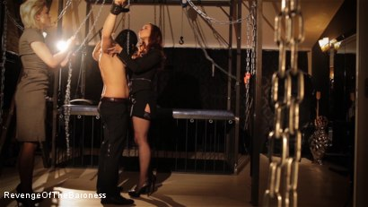 Photo number 13 from Ep 7 - The Business Slave: Seduced by Two Mistresses shot for Revenge Of The Baroness on Kink.com. Featuring Baroness Davina Dust, Princess Zuleika and Mr. Littleton in hardcore BDSM & Fetish porn.