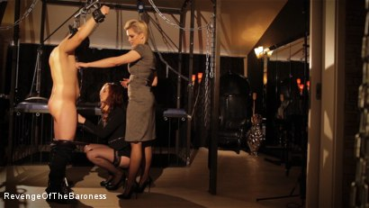 Photo number 15 from Ep 7 - The Business Slave: Seduced by Two Mistresses shot for Revenge Of The Baroness on Kink.com. Featuring Baroness Davina Dust, Princess Zuleika and Mr. Littleton in hardcore BDSM & Fetish porn.