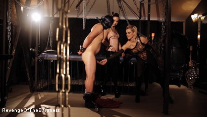 Photo number 4 from Ep 7 - The Business Slave: Seduced by Two Mistresses shot for Revenge Of The Baroness on Kink.com. Featuring Baroness Davina Dust, Princess Zuleika and Mr. Littleton in hardcore BDSM & Fetish porn.