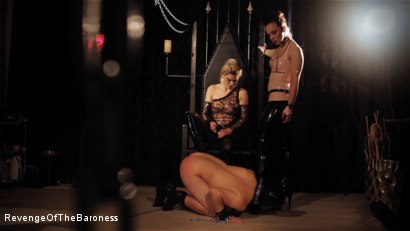 Photo number 15 from Ep 8 - Kinky Threesome: the Fuck of His Life shot for Revenge Of The Baroness on Kink.com. Featuring Baroness Davina Dust, Princess Zuleika and Mr. Littleton in hardcore BDSM & Fetish porn.