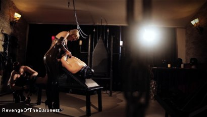 Photo number 23 from Ep 8 - Kinky Threesome: the Fuck of His Life shot for Revenge Of The Baroness on Kink.com. Featuring Baroness Davina Dust, Princess Zuleika and Mr. Littleton in hardcore BDSM & Fetish porn.