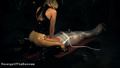 Photo number 19 from Ep 10 - Kinky Blind Date II: Mummified by Baroness Davina Dust shot for Revenge Of The Baroness on Kink.com. Featuring Baroness Davina Dust and Mr. Rene in hardcore BDSM & Fetish porn.