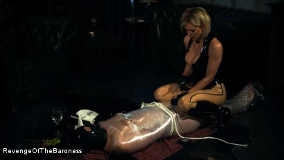 Photo number 24 from Ep 10 - Kinky Blind Date II: Mummified by Baroness Davina Dust shot for Revenge Of The Baroness on Kink.com. Featuring Baroness Davina Dust and Mr. Rene in hardcore BDSM & Fetish porn.