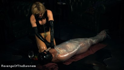 Photo number 33 from Ep 10 - Kinky Blind Date II: Mummified by Baroness Davina Dust shot for Revenge Of The Baroness on Kink.com. Featuring Baroness Davina Dust and Mr. Rene in hardcore BDSM & Fetish porn.